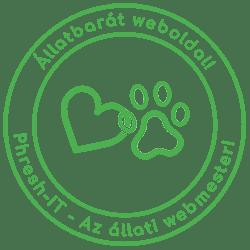 Állatbarát weboldal készítés logo alt