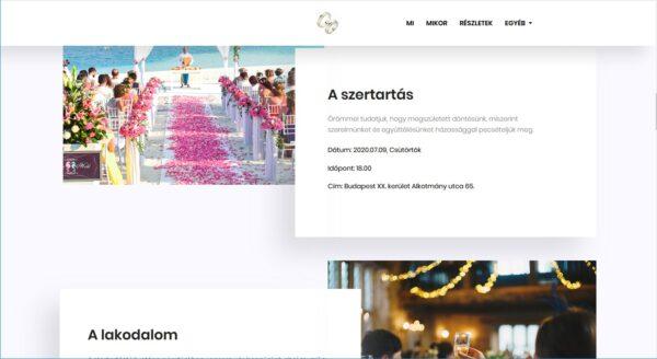Szabina és Krisztián esküvői honlapja